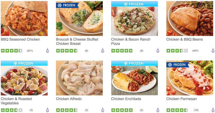 Nutrisystem Canada Food Reviews