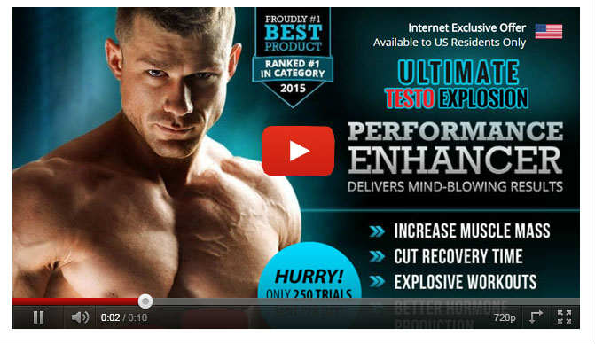 Ultimate Testo Explosion Ingredients – Testosterone Boosting Pill for Erectile dysfunction & Muscle?