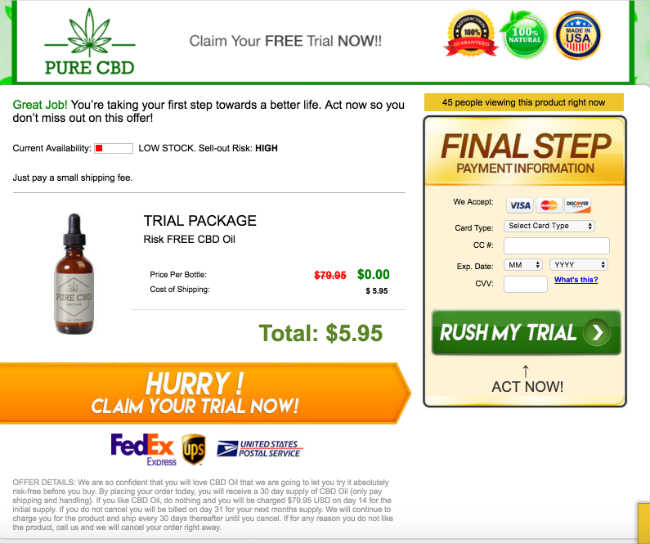 CBD Pain Relief - Highest Grade CBD Oil Free Sample Bottle
